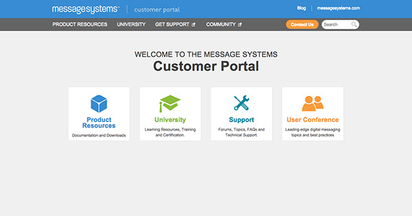 Welcome to the New Message Systems Customer Portal
