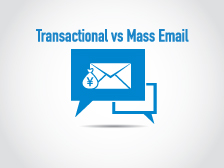 Mass email vs. transactional email