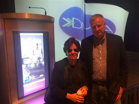Kara Swisher with Tom Benton, CEO of the DMA