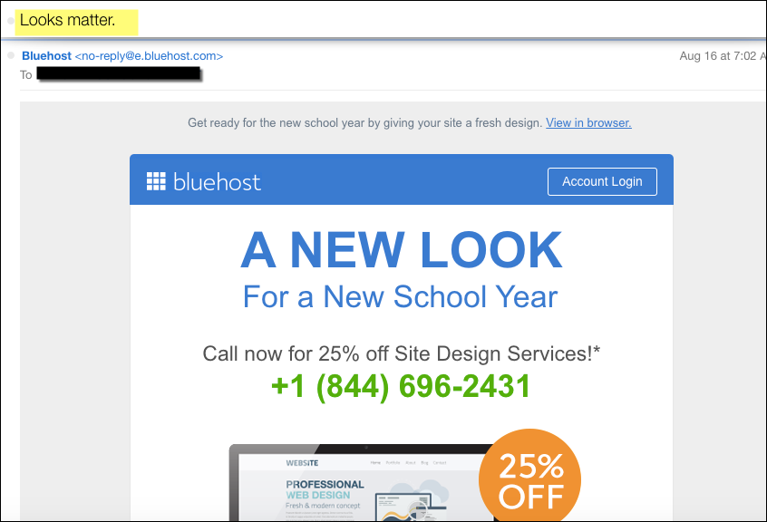 Back To School subject lines -Bluehost