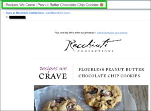 Good example emojis in email - Recchiuti Cookie Emoji
