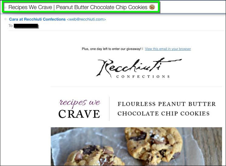 Good example email emoji - Recchiuti Cookie Emoji
