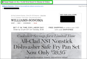 WilliamsSonoma Email Emoji
