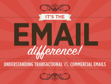 It's the Email Difference! Transactional vs Commercial Emails [Infographic]