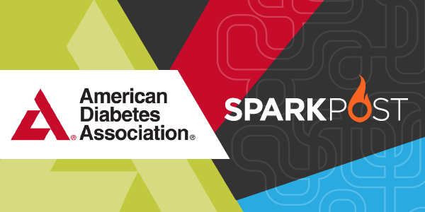 american diabetes association sparkpost logo mashup