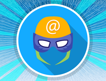 New to email basics superhero mask