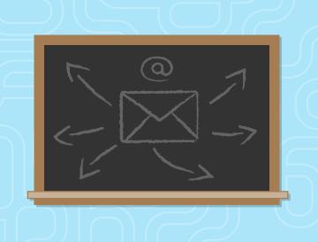 email basics chalkboard