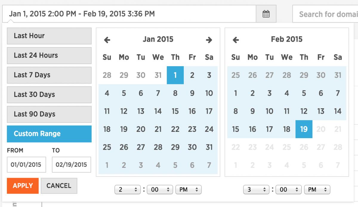 Date Range Selector Tool in SparkPost