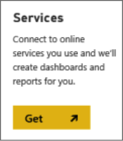 Power BI content pack: Description: https://powerbi.uservoice.com/assets/82642363/PBI_GetServices.png