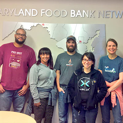 SparkPost Volunteer Day at the Maryland Food Bank Network