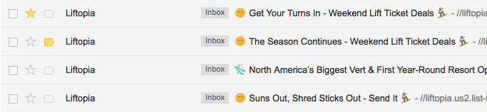 liftopia subject lines summer email campaigns