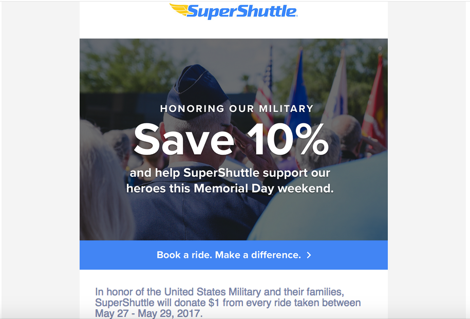 greyhound memorial day summer email campaign