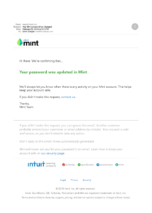 Example Mint Notification