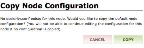 Copy node configuration