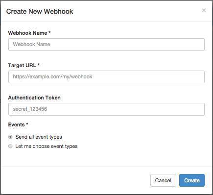 Create New Webhook