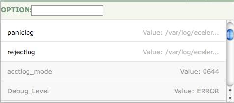 Module configuration options