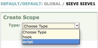 Adding a script scope