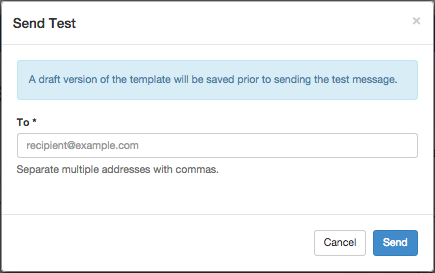 Send Test Form